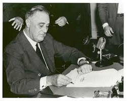 FDR signing of the CU act